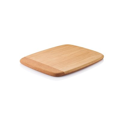 BAMBOO & CORK Wooden Bread Cutting Board by Bambu