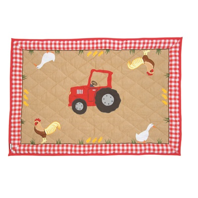 BARN Large Floor Quilt by Win Green