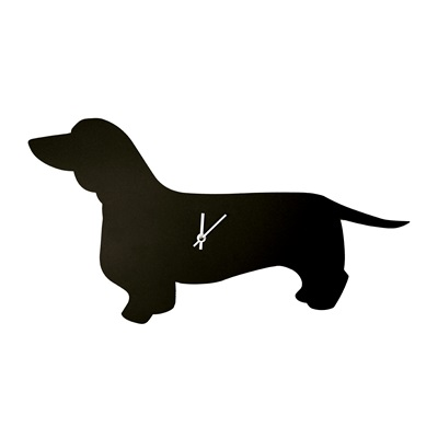 Dog Clock With Wagging Tail In Dachshund Dog Wall Clock