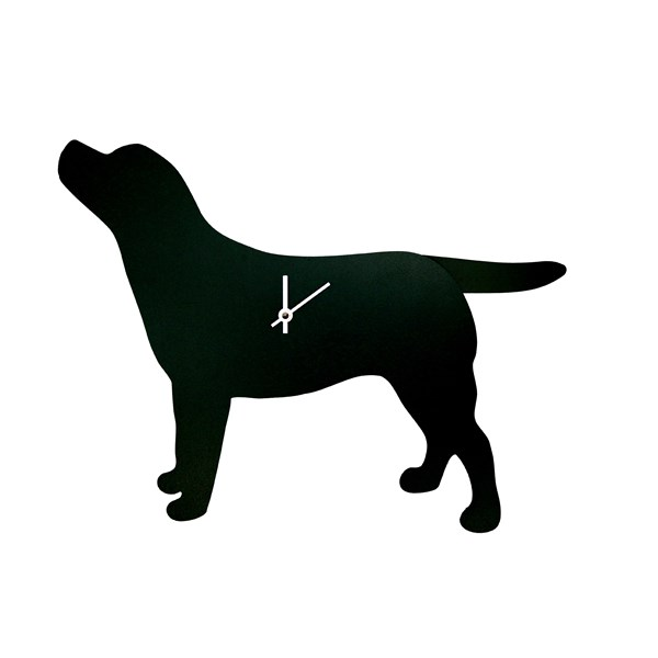 Wagging Tail Dog Clock - Labrador