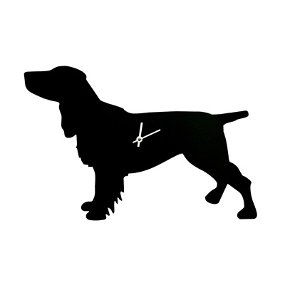Dog Clock with Wagging Tail in Spaniel   Unique Clocks   Cuckooland