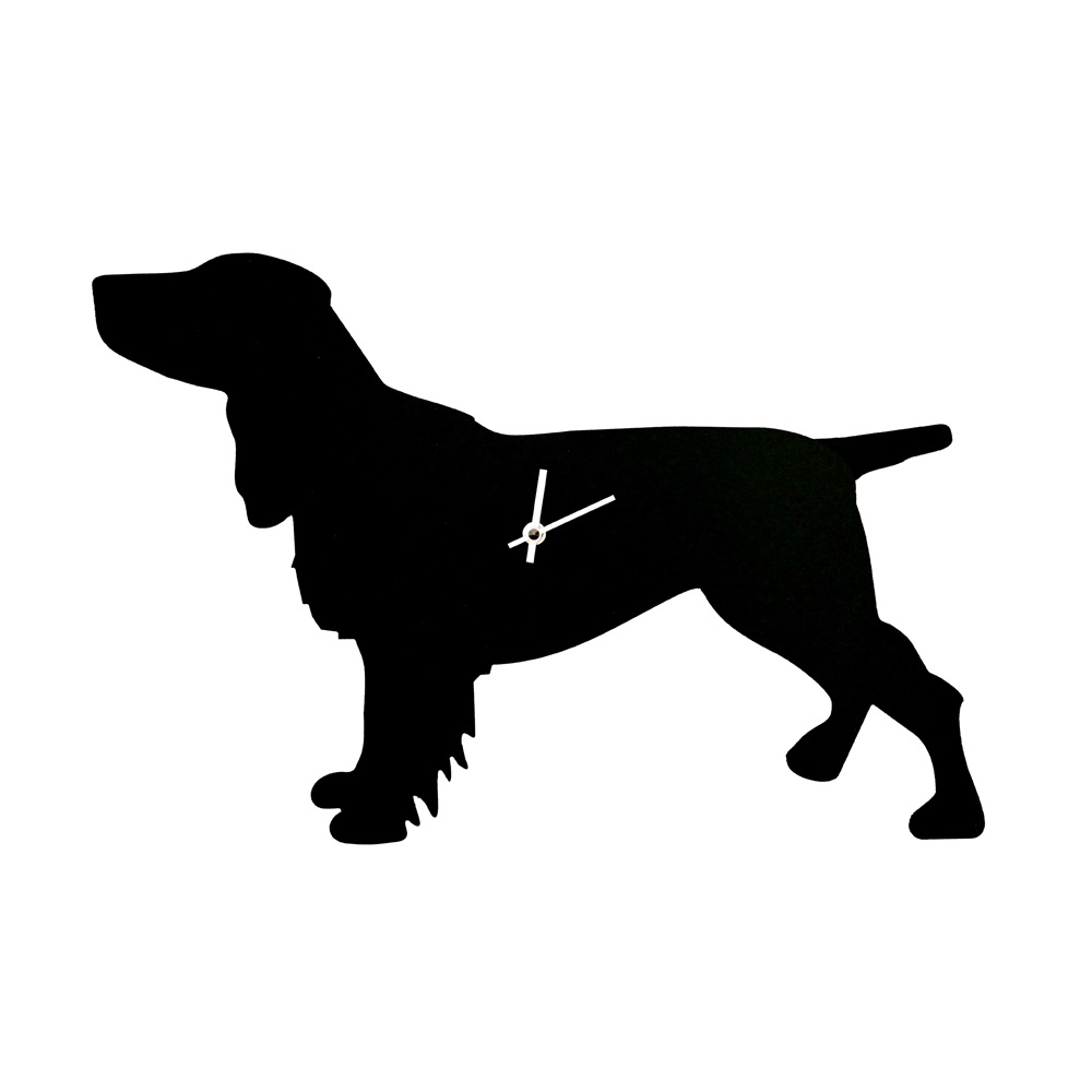 Dog Clock With Wagging Tail In Spaniel