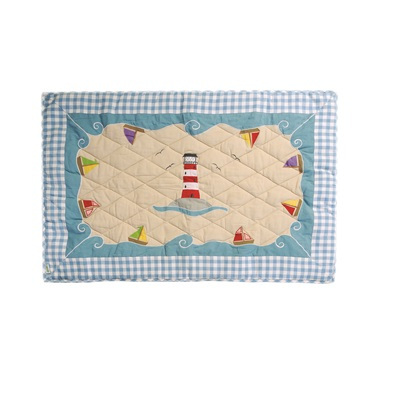 BOAT HOUSE Small Floor Quilt by Win Green