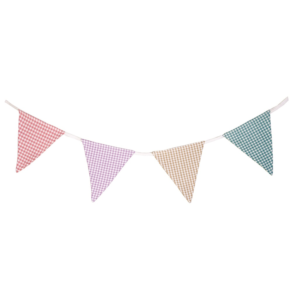 bunting mini gingham by win green win green cuckooland