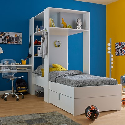 kids beds with storage. Babel Kids Bed With Amazing Storage In White And Grey Beds Cu Why Are Ideal For Childrens Rooms