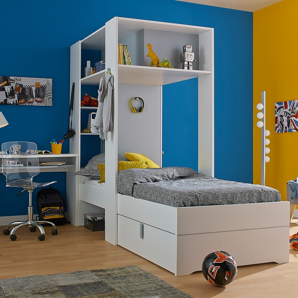 Babel Kids Bed With Amazing Storage In White And Grey