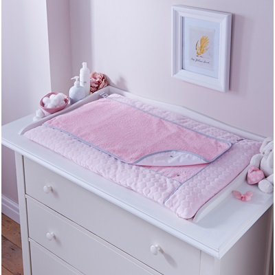 BABY CHANGING MAT in Pink Marshmallow Design