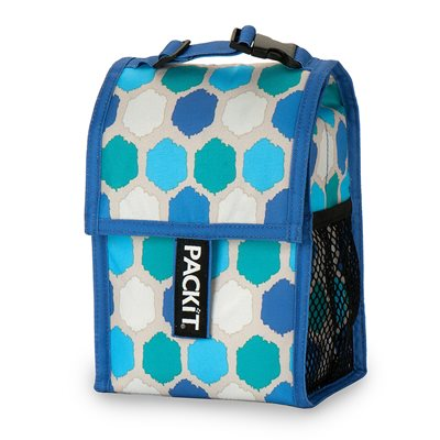 PACKIT FREEZABLE BABY BOTTLE COOL BAG in Blue Dot Design