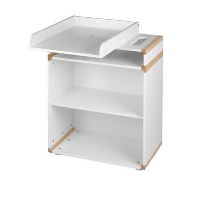 FLEXA BEECH BABY CHANGE UNIT with Turn Top and Shelf
