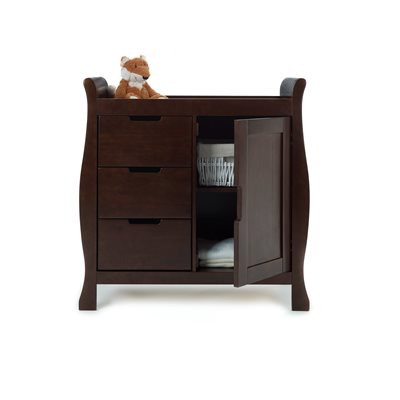 STAMFORD DRESSER & BABY CHANGING UNIT in Walnut by Obaby