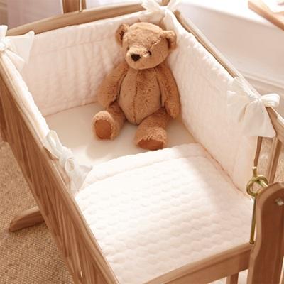 BABY CRIB BEDDING SET in Marshmallow Design