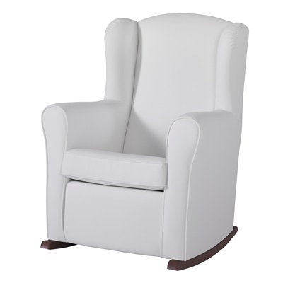 Nursing Chair In White Leatherette