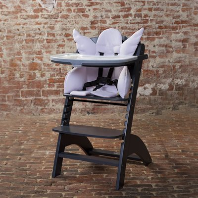 Lambda 2 Wooden High Chair in Anthracite