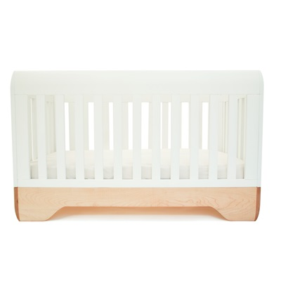 KALON STUDIOS ECHO BABY COT & TODDLER BED in White Maple