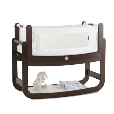 SNUZPOD 2 3-in-1 BEDSIDE CRIB with Mattress in Espresso