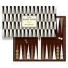 Quirky Gift Idea Backgammon Silver Gold
