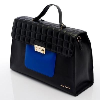 NOVA HARLEY ATHENS CHANGING BAG in Black and Blue