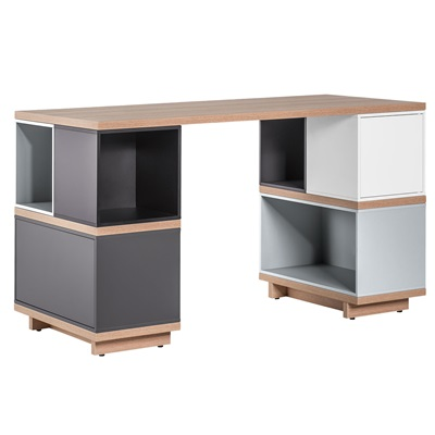 BALANCE MODULAR DESK in White and Grey