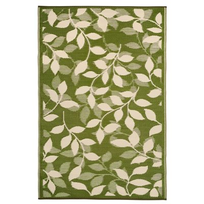 BALI OUTDOOR RUG in Green Leaf