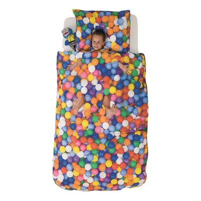 SNURK Childrens Duvet Set in Ball Pit Design
