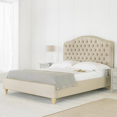 Balmoral Upholstered Bed in Beige