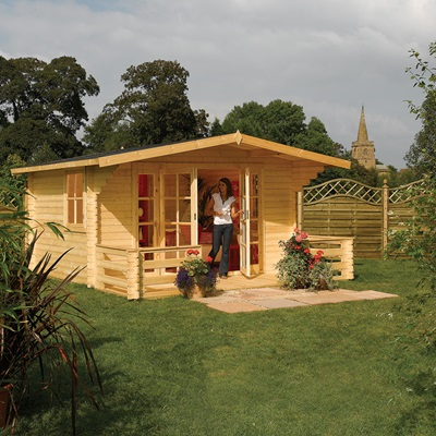ROWLINSON BALTIC CHALET LOG CABIN in Natural Timber