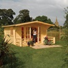 Baltic Chalet Outdoor Cabin in Natural Timber by Rowlinson