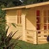 Secure Garden Cabin with Veranda