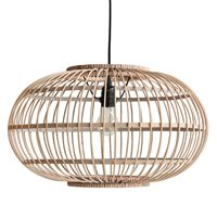 BAMBOO HANGING CEILING LIGHT in Natural Finish