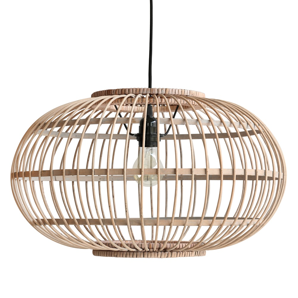 low priced 7ff3b 91904 Bamboo Hanging Ceiling Light in Natural Finish