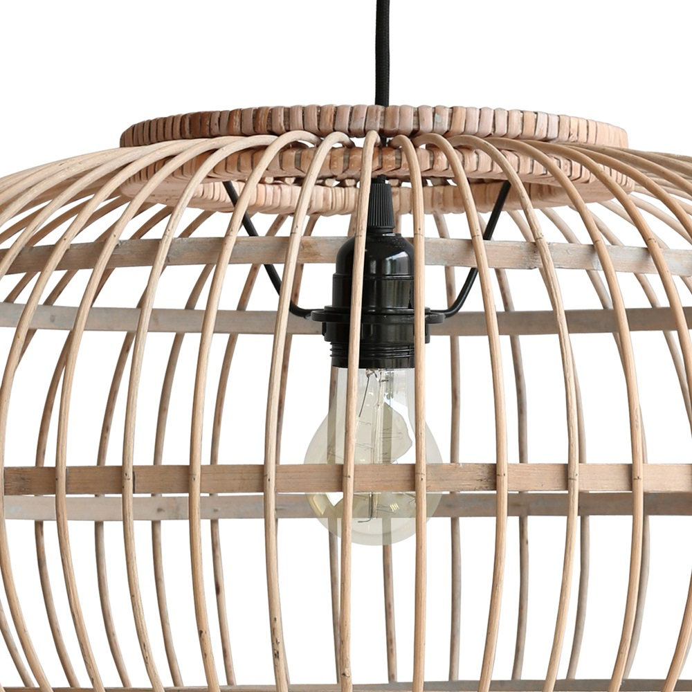 Bamboo hanging ceiling light in natural finish ceiling lighting cu bamboo pendant lightg aloadofball Choice Image