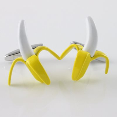 BANANA CUFFLINKS in Chrome Box