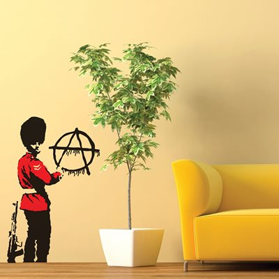 BANKSY WALL STICKER in 'Anarchy Guard' design