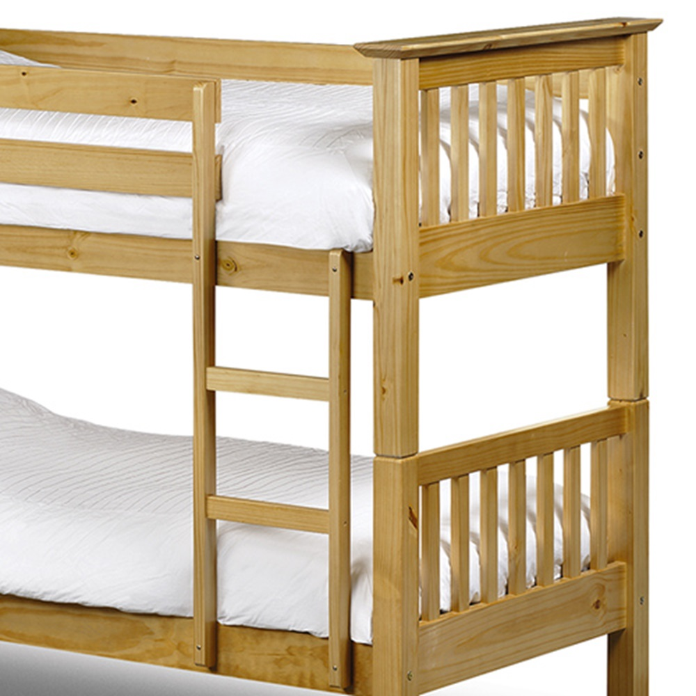 Kids solid pine bunk bed boys girls beds cuckooland for Unfinished loft bed