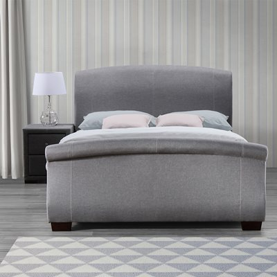 BARCELONA UPHOLSTERED BED WITH DRAWERS in Grey by Birlea