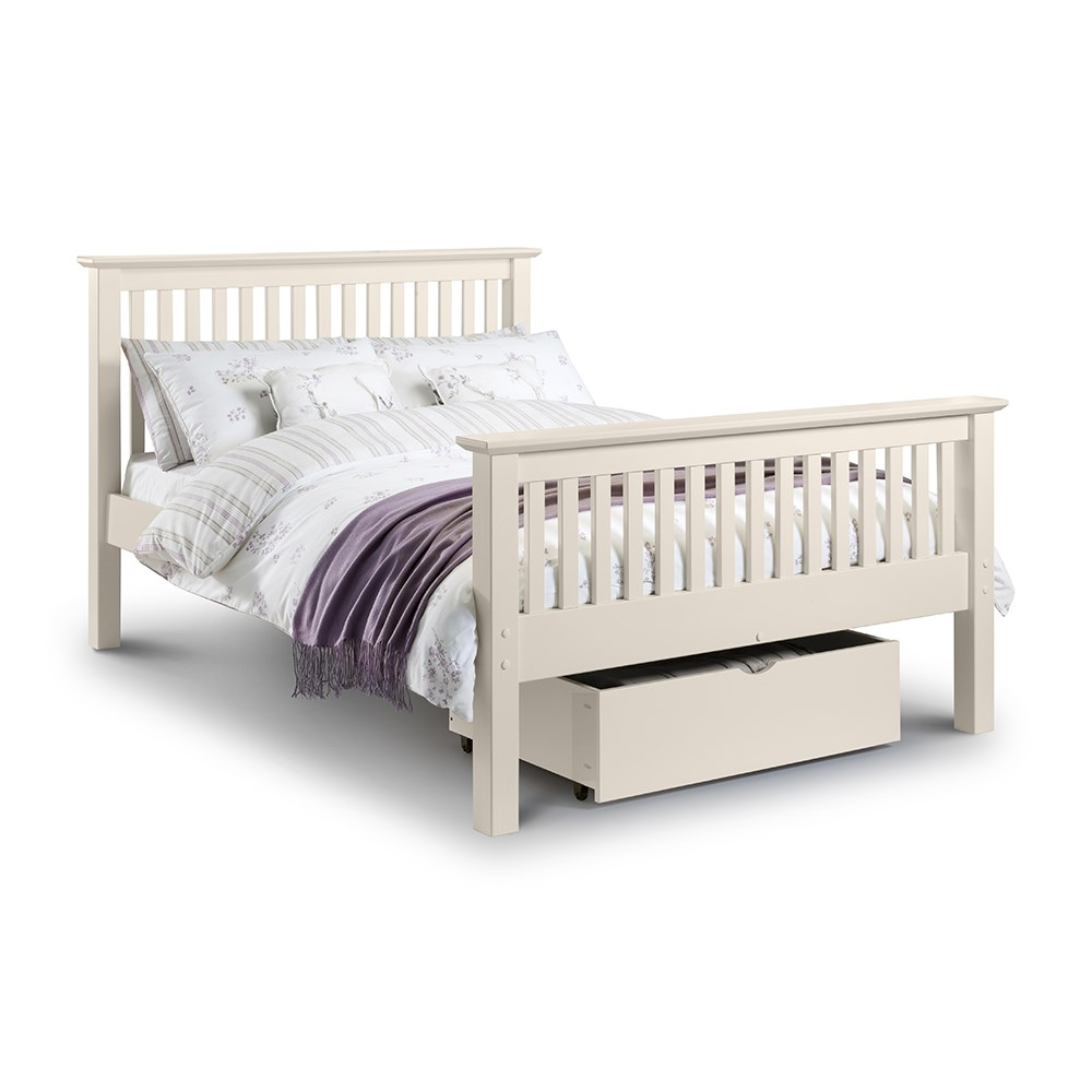 Barcelona Bed Frame In White By Julian Bowen Julian