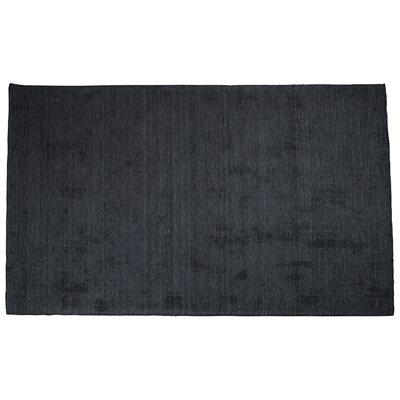 BARLETTA 100% WOOL HAND WOVEN RUG in Dark Grey