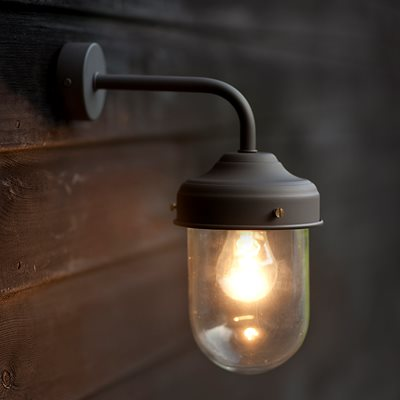 Image of BARN GARDEN WALL LIGHT in Coffee Bean