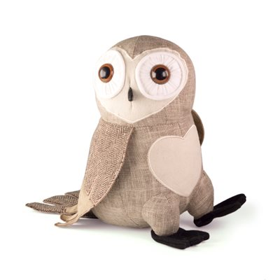 BARN OWL Bird Animal Doorstop by Dora Designs