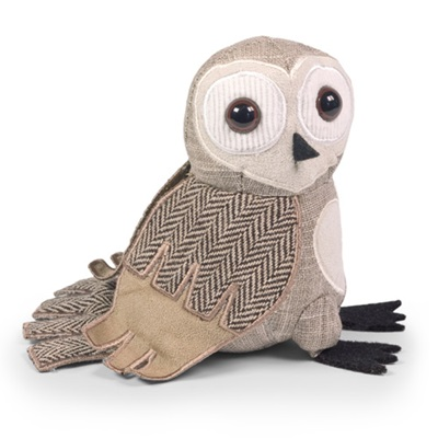 BARN OWL JUNIOR Bird Animal Paperweight by Dora Designs