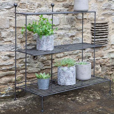 GARDEN TRADING BARRINGTON PLANT STAND in Steel