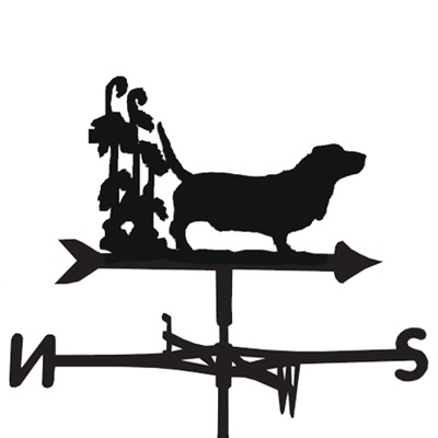 WEATHERVANE in Bassett Dog Design