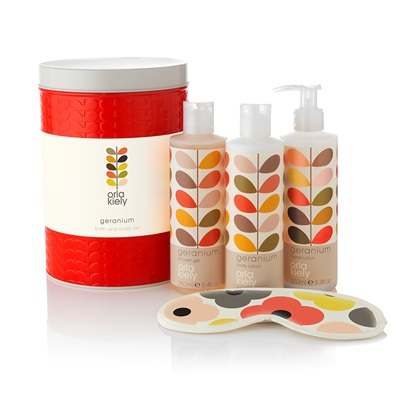 ORLA KIELY Luxury Bath & Body Set in Geranium