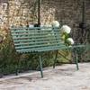 Battersea Metal Garden Bench in Thyme