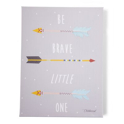'BE BRAVE LITTLE ONE' KID'S WALL ART