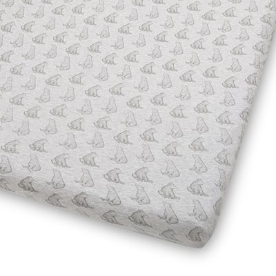 WILD COTTON ORGANIC FITTED COT SHEET in Bear Design