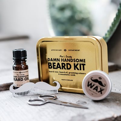 MEN'S SOCIETY DAMN HANDSOME BEARD GROOMING KIT
