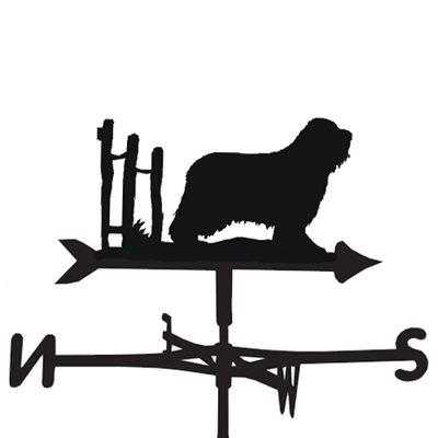 WEATHERVANE in Bearded Collie Dog Design
