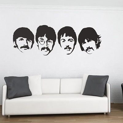 WALL STICKER in 'The Beatles' design