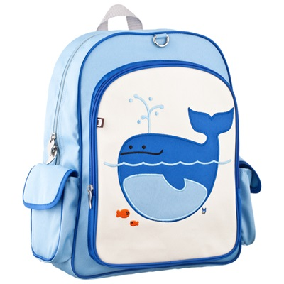 KIDS BACKPACK LARGE by Beatrix New York in Lucus the Whale